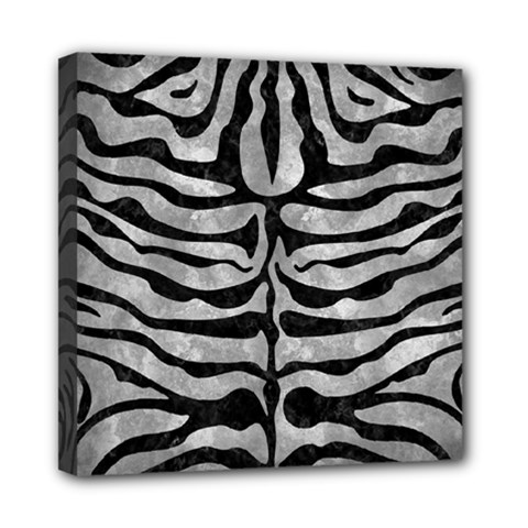 Skin2 Black Marble & Gray Metal 2 (r) Mini Canvas 8  X 8