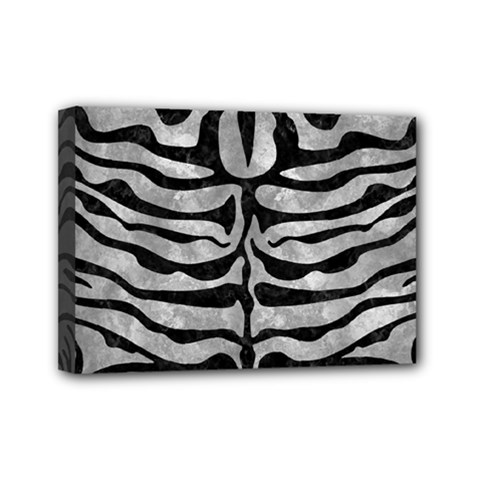 Skin2 Black Marble & Gray Metal 2 (r) Mini Canvas 7  X 5