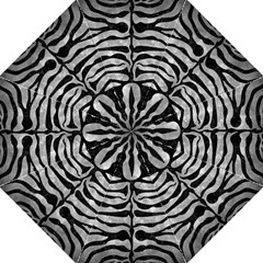 Skin2 Black Marble & Gray Metal 2 (r) Folding Umbrellas