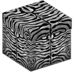 Skin2 Black Marble & Gray Metal 2 (r) Storage Stool 12