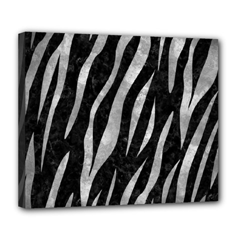 Skin3 Black Marble & Gray Metal 2 Deluxe Canvas 24  X 20