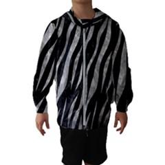 Skin3 Black Marble & Gray Metal 2 Hooded Wind Breaker (kids)
