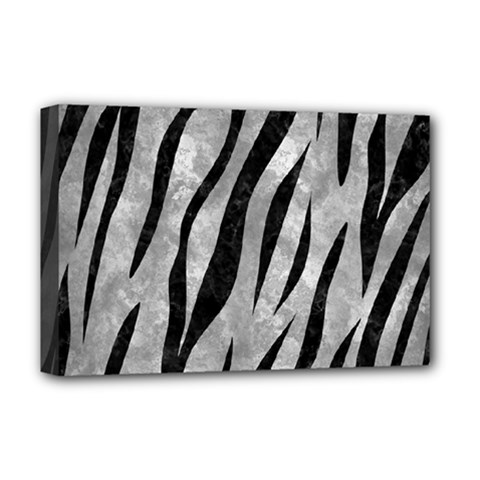 Skin3 Black Marble & Gray Metal 2 (r) Deluxe Canvas 18  X 12