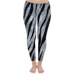 Skin3 Black Marble & Gray Metal 2 (r) Classic Winter Leggings