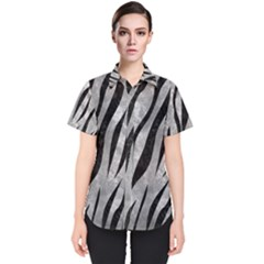Skin3 Black Marble & Gray Metal 2 (r) Women s Short Sleeve Shirt