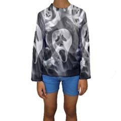 Creepy Halloween Kids  Long Sleeve Swimwear
