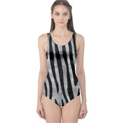 Skin4 Black Marble & Gray Metal 2 One Piece Swimsuit
