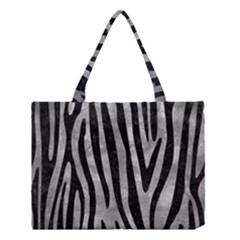 Skin4 Black Marble & Gray Metal 2 Medium Tote Bag