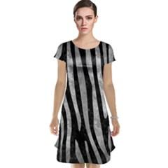 Skin4 Black Marble & Gray Metal 2 (r) Cap Sleeve Nightdress