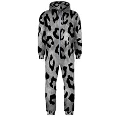 Skin5 Black Marble & Gray Metal 2 Hooded Jumpsuit (men)
