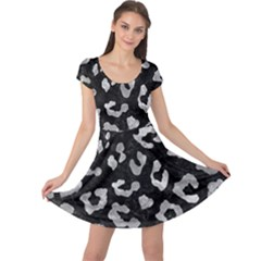 Skin5 Black Marble & Gray Metal 2 (r) Cap Sleeve Dress