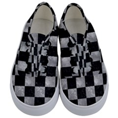Square1 Black Marble & Gray Metal 2 Kids  Classic Low Top Sneakers