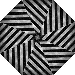 Stripes3 Black Marble & Gray Metal 2 (r) Hook Handle Umbrellas (small)