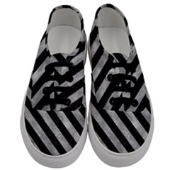 Stripes3 Black Marble & Gray Metal 2 (r) Men s Classic Low Top Sneakers