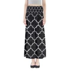 Tile1 Black Marble & Gray Metal 2 Full Length Maxi Skirt