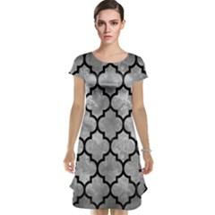 Tile1 Black Marble & Gray Metal 2 (r) Cap Sleeve Nightdress