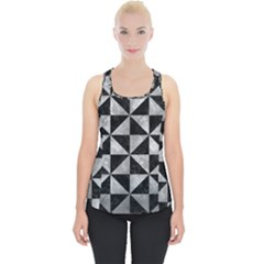 Triangle1 Black Marble & Gray Metal 2 Piece Up Tank Top