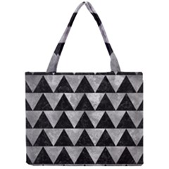 Triangle2 Black Marble & Gray Metal 2 Mini Tote Bag