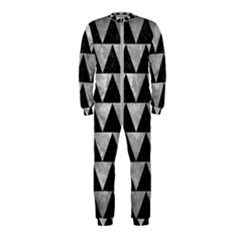Triangle2 Black Marble & Gray Metal 2 Onepiece Jumpsuit (kids)