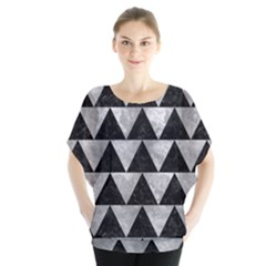 Triangle2 Black Marble & Gray Metal 2 Blouse