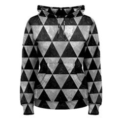 Triangle3 Black Marble & Gray Metal 2 Women s Pullover Hoodie