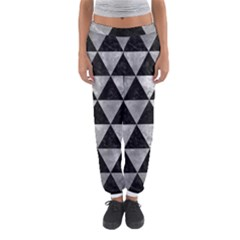 Triangle3 Black Marble & Gray Metal 2 Women s Jogger Sweatpants