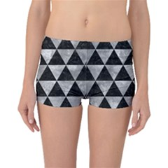 Triangle3 Black Marble & Gray Metal 2 Boyleg Bikini Bottoms