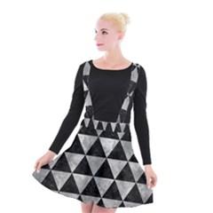 Triangle3 Black Marble & Gray Metal 2 Suspender Skater Skirt