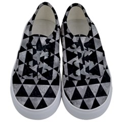 Triangle3 Black Marble & Gray Metal 2 Kids  Classic Low Top Sneakers