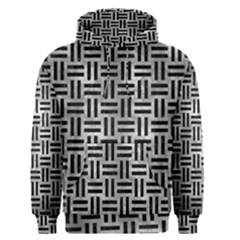 Woven1 Black Marble & Gray Metal 2 (r) Men s Pullover Hoodie