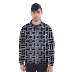 Woven1 Black Marble & Gray Metal 2 (r) Wind Breaker (men)