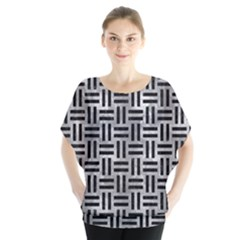 Woven1 Black Marble & Gray Metal 2 (r) Blouse