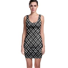Woven2 Black Marble & Gray Metal 2 Bodycon Dress