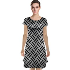 Woven2 Black Marble & Gray Metal 2 (r) Cap Sleeve Nightdress