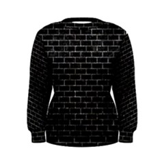 Brick1 Black Marble & Gray Stone Women s Sweatshirt
