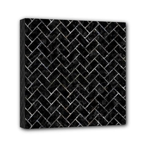 Brick2 Black Marble & Gray Stone Mini Canvas 6  X 6
