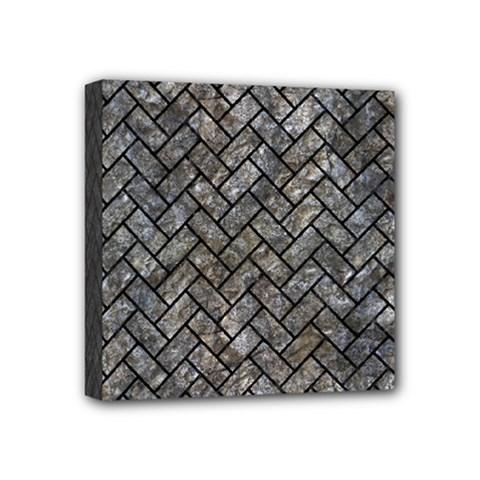 Brick2 Black Marble & Gray Stone (r) Mini Canvas 4  X 4