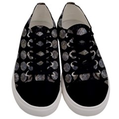 Circles1 Black Marble & Gray Stone Men s Low Top Canvas Sneakers