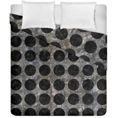Circles1 Black Marble & Gray Stone (r) Duvet Cover Double Side (california King Size)