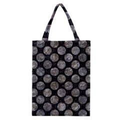 Circles2 Black Marble & Gray Stone Classic Tote Bag