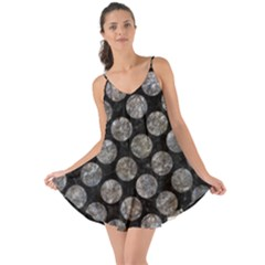 Circles2 Black Marble & Gray Stone Love The Sun Cover Up