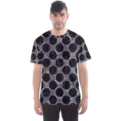 Circles2 Black Marble & Gray Stone (r) Men s Sports Mesh Tee