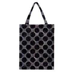 Circles2 Black Marble & Gray Stone (r) Classic Tote Bag