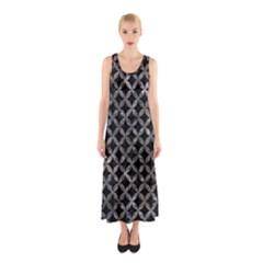 Circles3 Black Marble & Gray Stone Sleeveless Maxi Dress