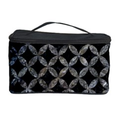 Circles3 Black Marble & Gray Stone Cosmetic Storage Case