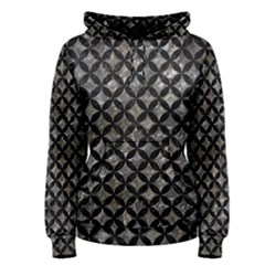Circles3 Black Marble & Gray Stone (r) Women s Pullover Hoodie