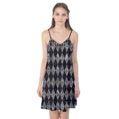 Diamond1 Black Marble & Gray Stone Camis Nightgown