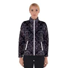 Damask1 Black Marble & Gray Stone Winterwear
