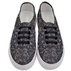 Damask2 Black Marble & Gray Stone (r) Women s Classic Low Top Sneakers