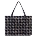 HOUNDSTOOTH1 BLACK MARBLE & GRAY STONE Medium Tote Bag View1